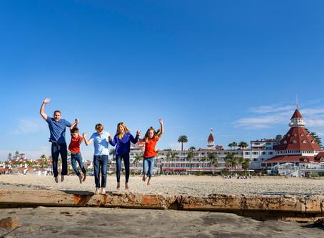 Family Beach Photo Session Hotel Del Coronado California
