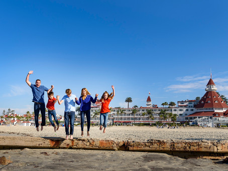 Family Beach Photo Session Hotel Del Coronado California