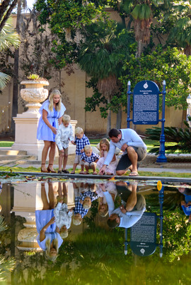 Family photos in Balboa Park
