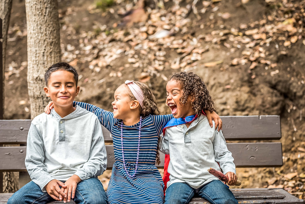 Childrens photo in Balboa Park, San Diego