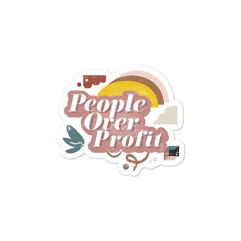 People over Profit Sticker - Nature