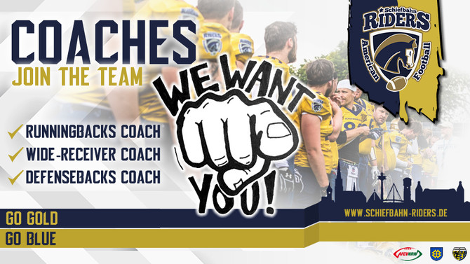 Coaches! We want you!