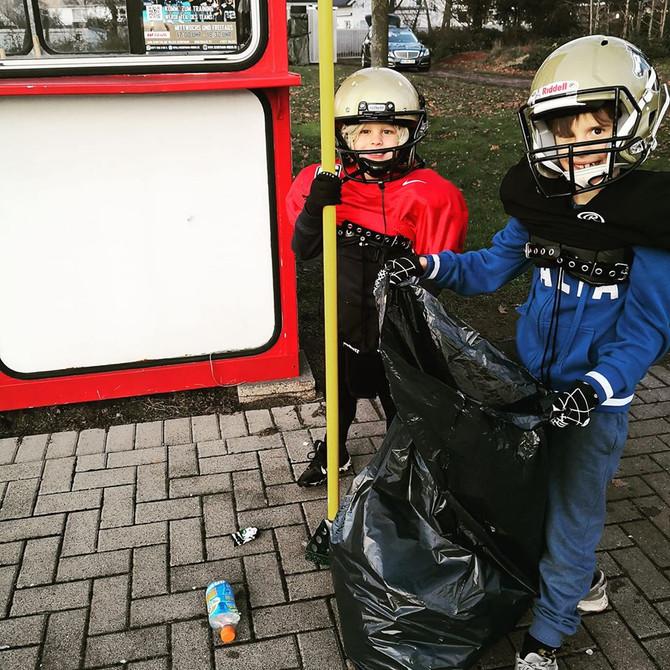 Halte deinen Sportplatz sauber!