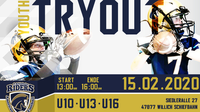 Let's play Football! Komm zum Tryout!