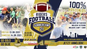 Jugendfootball Summercamp 21 upcoming!