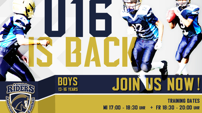 U16 Football is BACK!