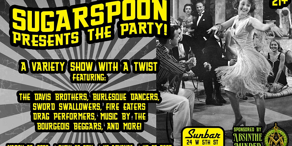 SugarSpoon presents The Party! Sponsored by Absinthe Minded
