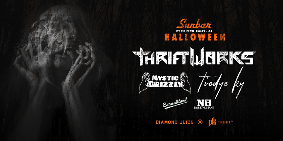 Thriftworks with Mystic Grizzly, Tiedye Ky and More at Sunbar Halloween