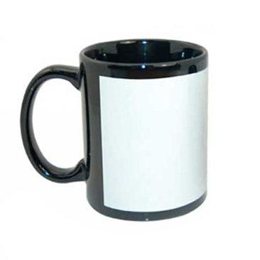 taza negra, taza ventana blanca, geekolor, sublimable, subimación