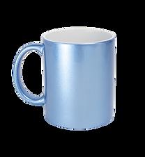Taza Perlada Azul