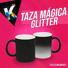 TAZA MAGICA GLITTER