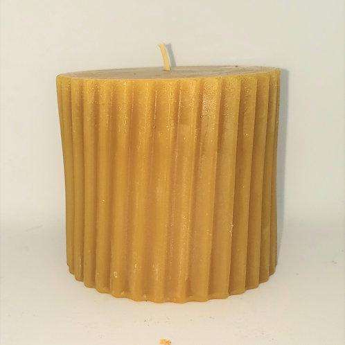 Pillar beeswax candle