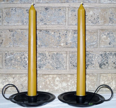Natural beeswax taper Candle