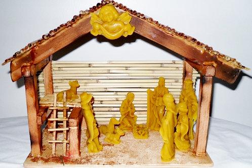 Nativity scene, beeswax handmade.