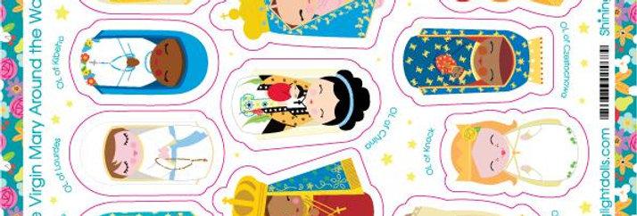 The Virgin Mary Around the World Sticker Sheet