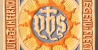 Holy Name of Jesus Italian Hand Painted Terracotta Tile