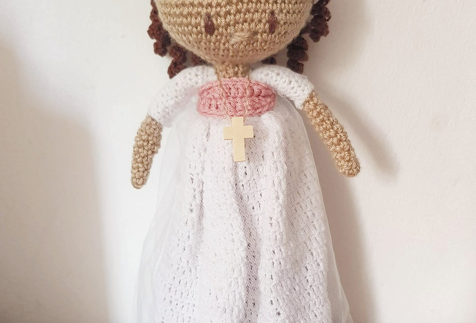 Personalised Holy Communion Crochet doll