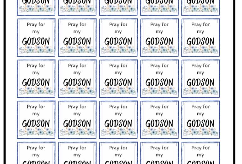 Pray for my Godson, Stickers