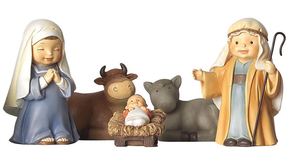 Spanish Children's Nativity Set, Naif Style
