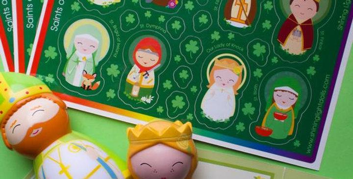 Saints of Ireland Sticker Sheet