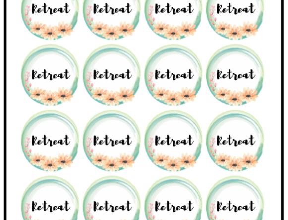 Retreat, stickers