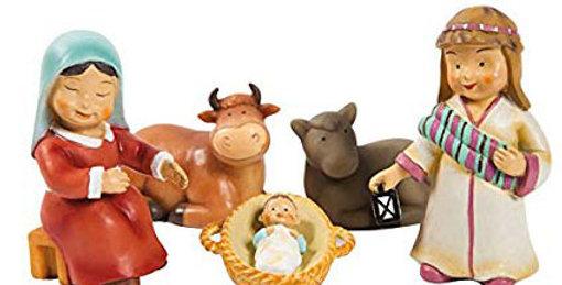 Spanish Children's Nativity Set, Naif Style 2