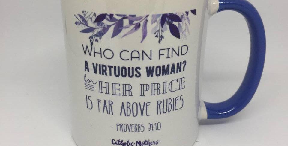Catholic Mothers Mug, Blue