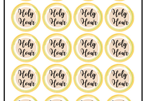 Holy Hour, Stickers
