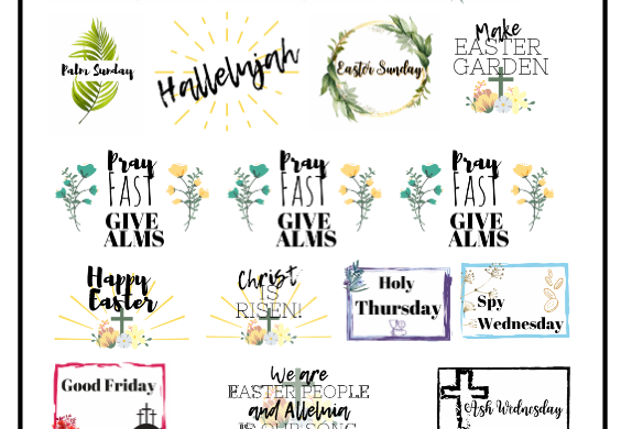 Lent-Easter Stickers