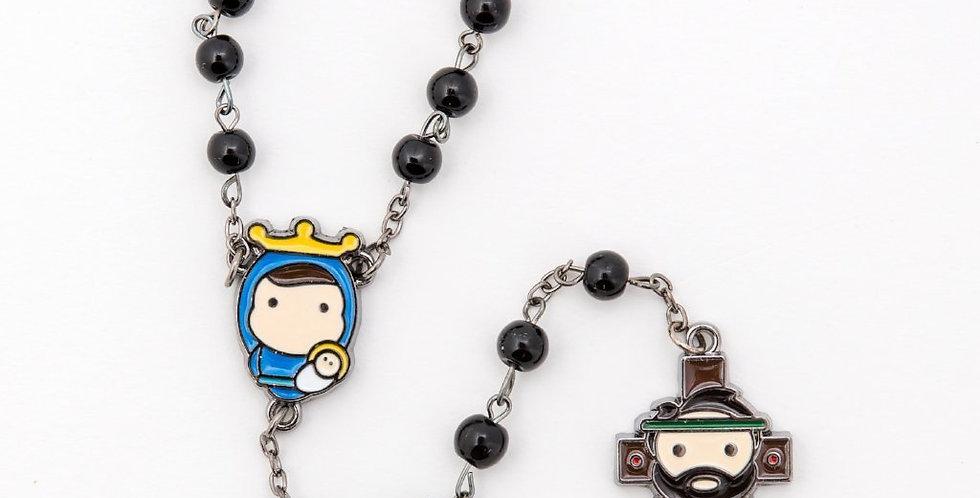 Tiny Saints Rosary, Black
