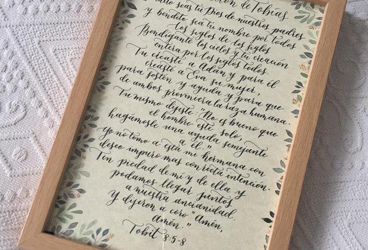 La Oracion De Tobias. Framed