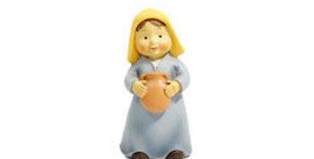 Shepherdess with Jar, Naif Style