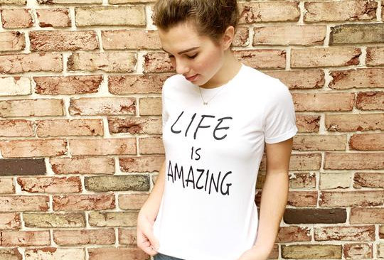 """Life is Amazing"""" Relaxed Tee"""