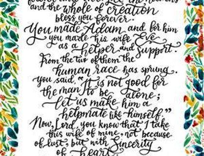 Tobit's Prayer - Modern Calligraphy (Print)