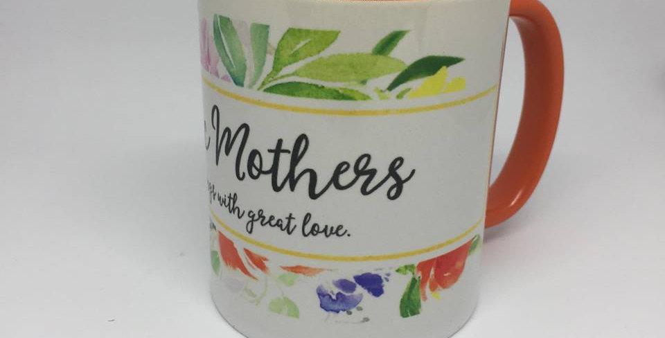 Catholic Mothers Mug, Orange
