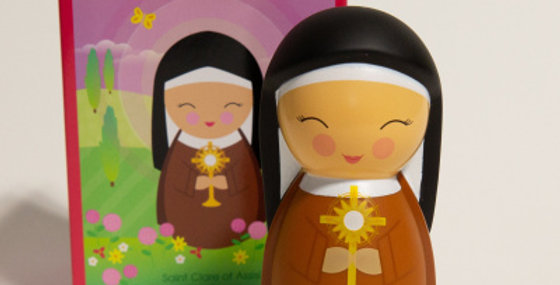 Saint Clare of Assisi Shining Light Doll