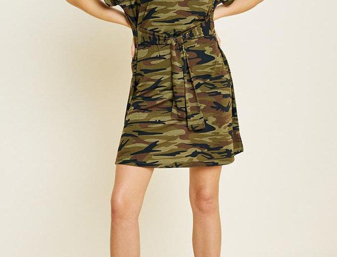 Bella Camo T-Shirt Dress