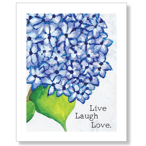"""Live Laugh Love"" Art Print"