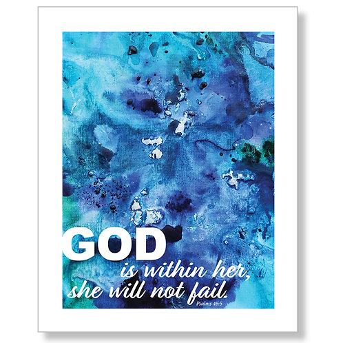 """""""God is Within Her"""" Art Print"""