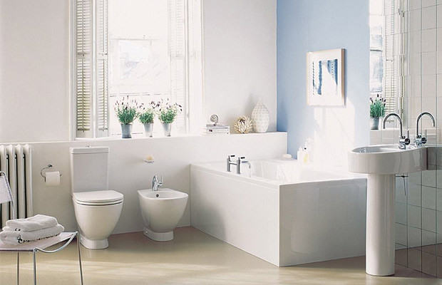 blue colour bathroom