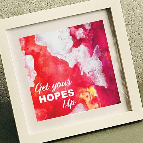 """""""Hopes Up"""" Framed Print"""