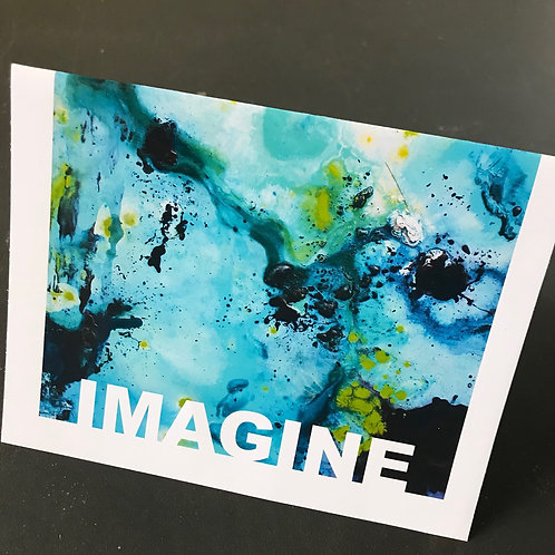 Abstract Inspirational Notecards