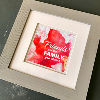 """""""Friends V"""" Framed Print"""