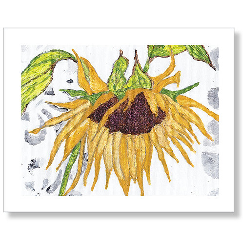 """Sunflower Love"" Art Print"