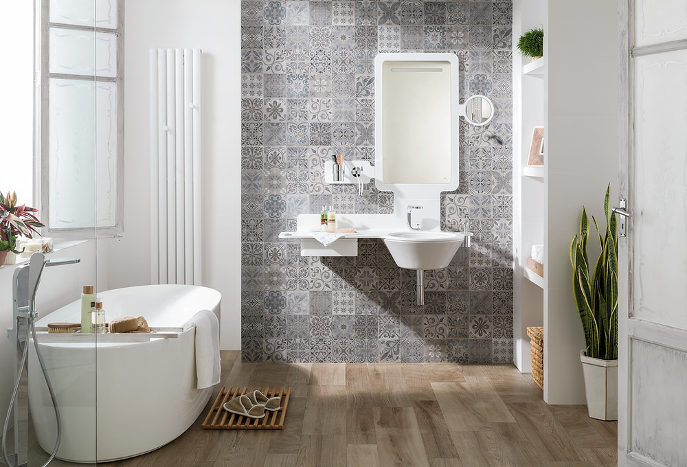 retro bathroom tile scheme