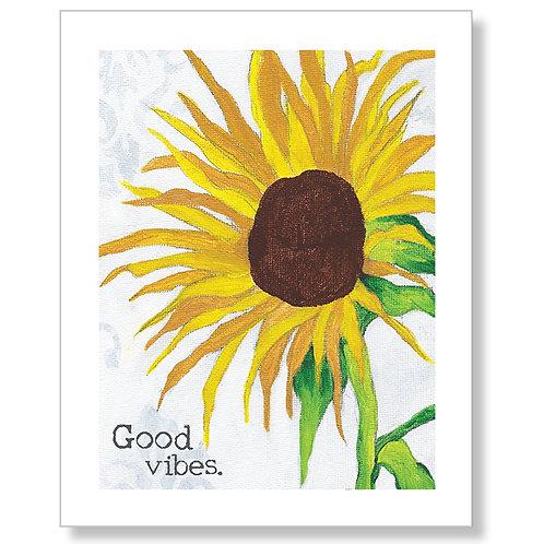 """Good Vibes"" Art Print"