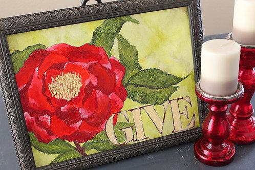 """Give"" Original Art"