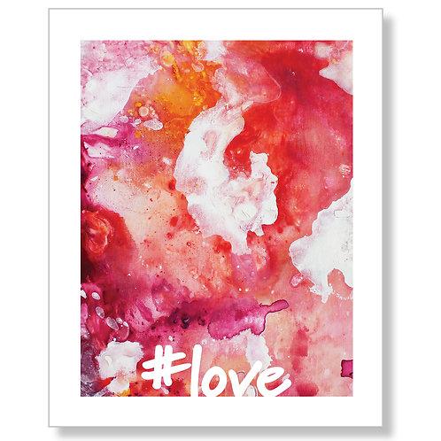 """#love"" Art Print"