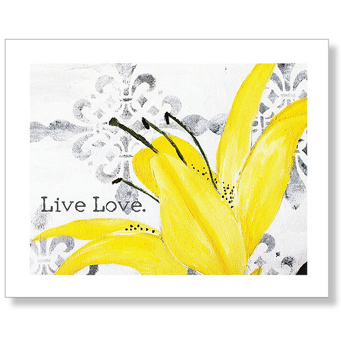 """Live Love"" Art Print"