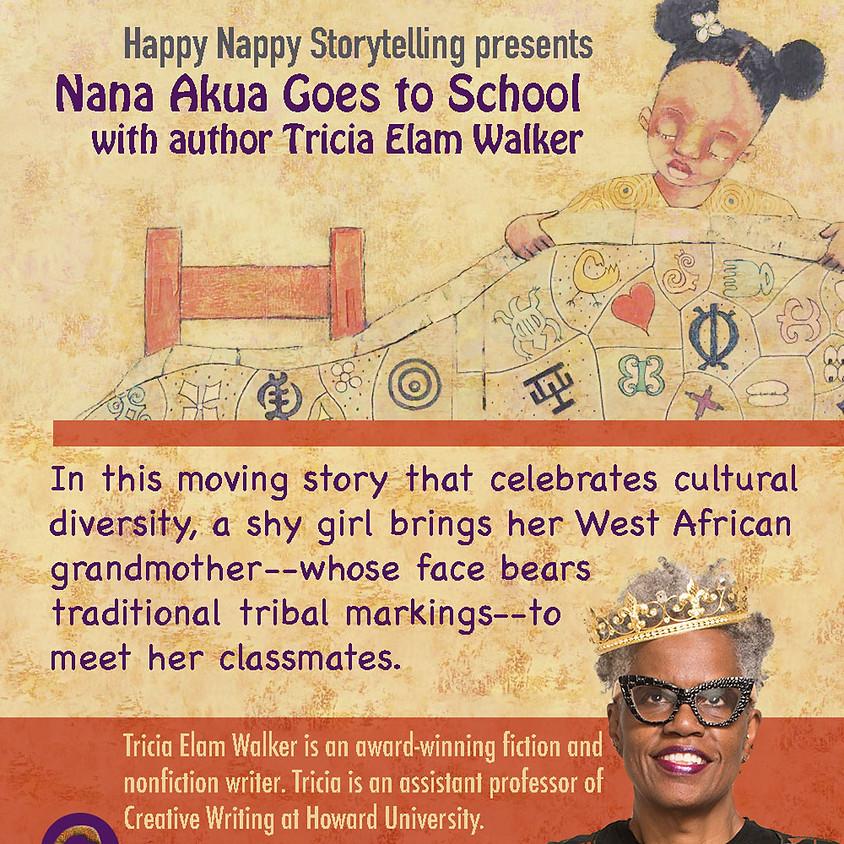 Nana Akua Goes to School with author  Tricia Elam Walker